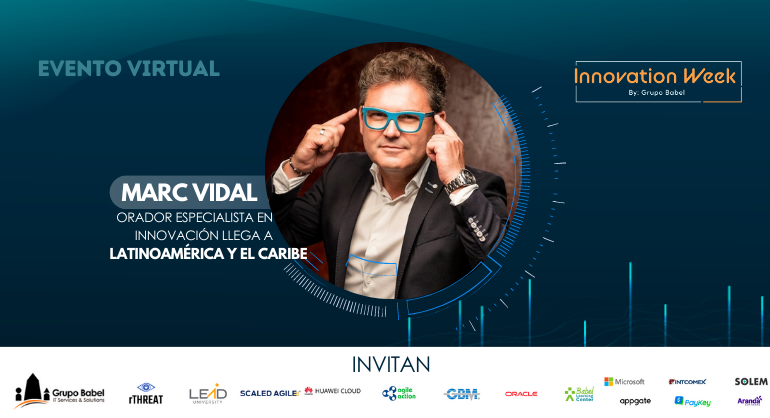 Consultor en transformación digital, Marc Vidal se presentará en el Innovation Week